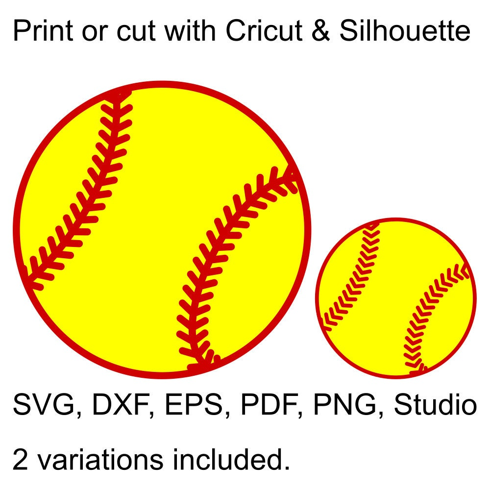 softball ball svg file for cricut silhouette paper and vinyl rh perfectcutsvgfiles com softball clipart images free softball clipart images free
