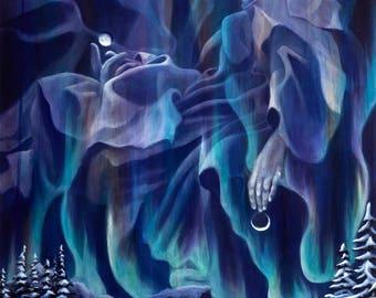 Ecstasy of St Teresa. visionary art print of Original Artwork by Jack Henry Art