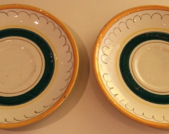 Vintage Stangl Pottery Fruit Pattern--Two Saucers