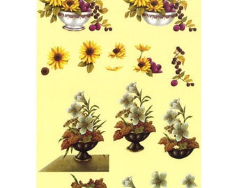 Flower pot white/black-PAR015