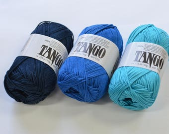 100% Mercerized Cotton yarn TANGO 50gr 125m Cotton Yarn knitting Crochet thread Сhoice of color Many Colors Natural Yarn
