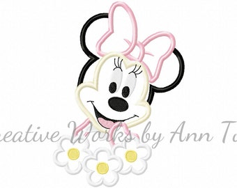 Miss Mouse Sweet Flower Applique