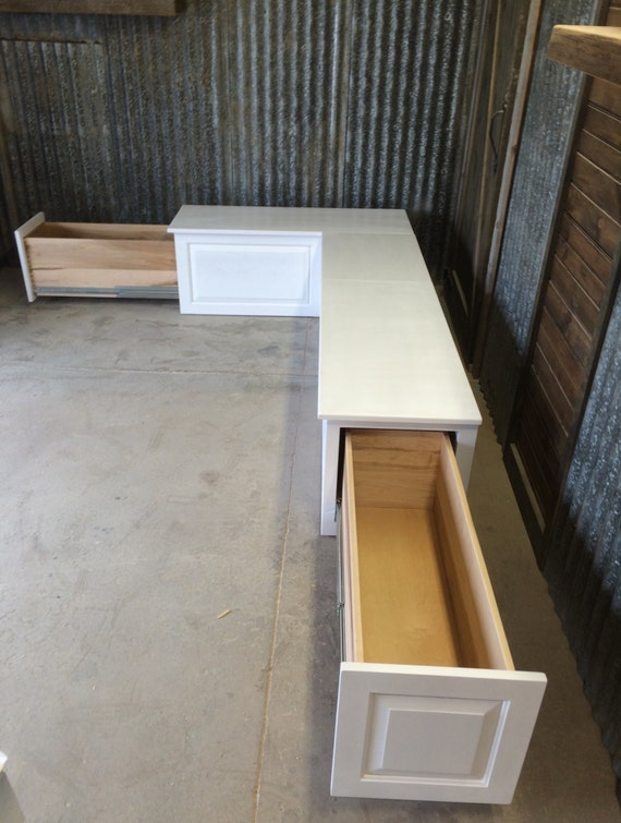 Beautiful Banquette Corner Bench Seat With Storage Drawers