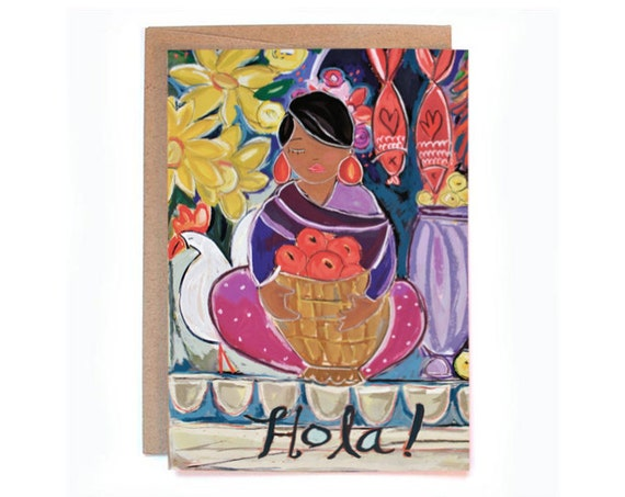 Hola! 5 x 7 Greeting Card