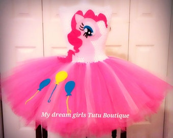 Pinkie Pie, My little Pony tutu dress, MLP birthday dress, Pinkie Pie birthday tutu, Pinkie Pie birthday dress