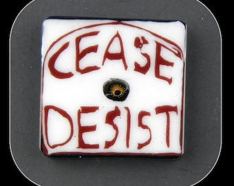 Holy Cease and Desist by Greg Chase Murrine Boro Coins - 105