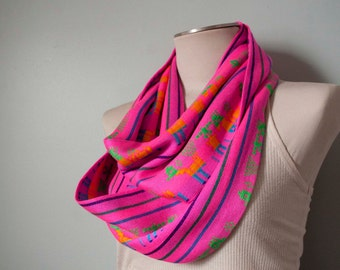 25% off: Mexican Infinity Scarf - Hot Pink