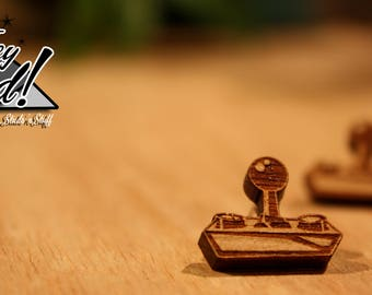 Retro Video Game Controller Stud Earrings - Laser Cut Wood
