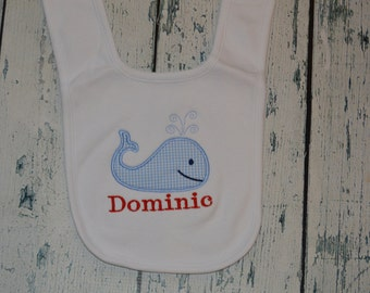 Personalized Whale Infant Bib