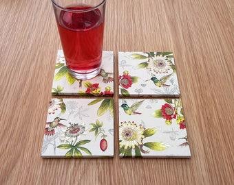 floral garden coasters - gardner gifts