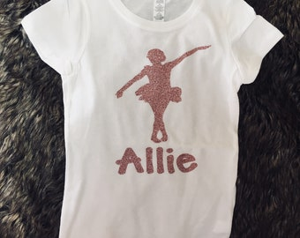 Personalized ballet shirt