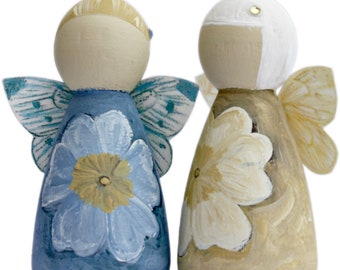 Blue Primrose Fairy Peg Doll Gift