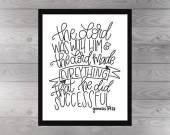 Genesis 39:23 Print