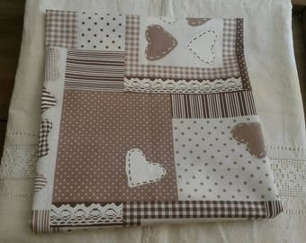 Cut of fabric 45 X 50 cm / country chic fabric / polka dots, stripes, hearts and lace