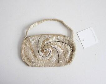 1950s sequin purse   sequined handbag   1950s purse
