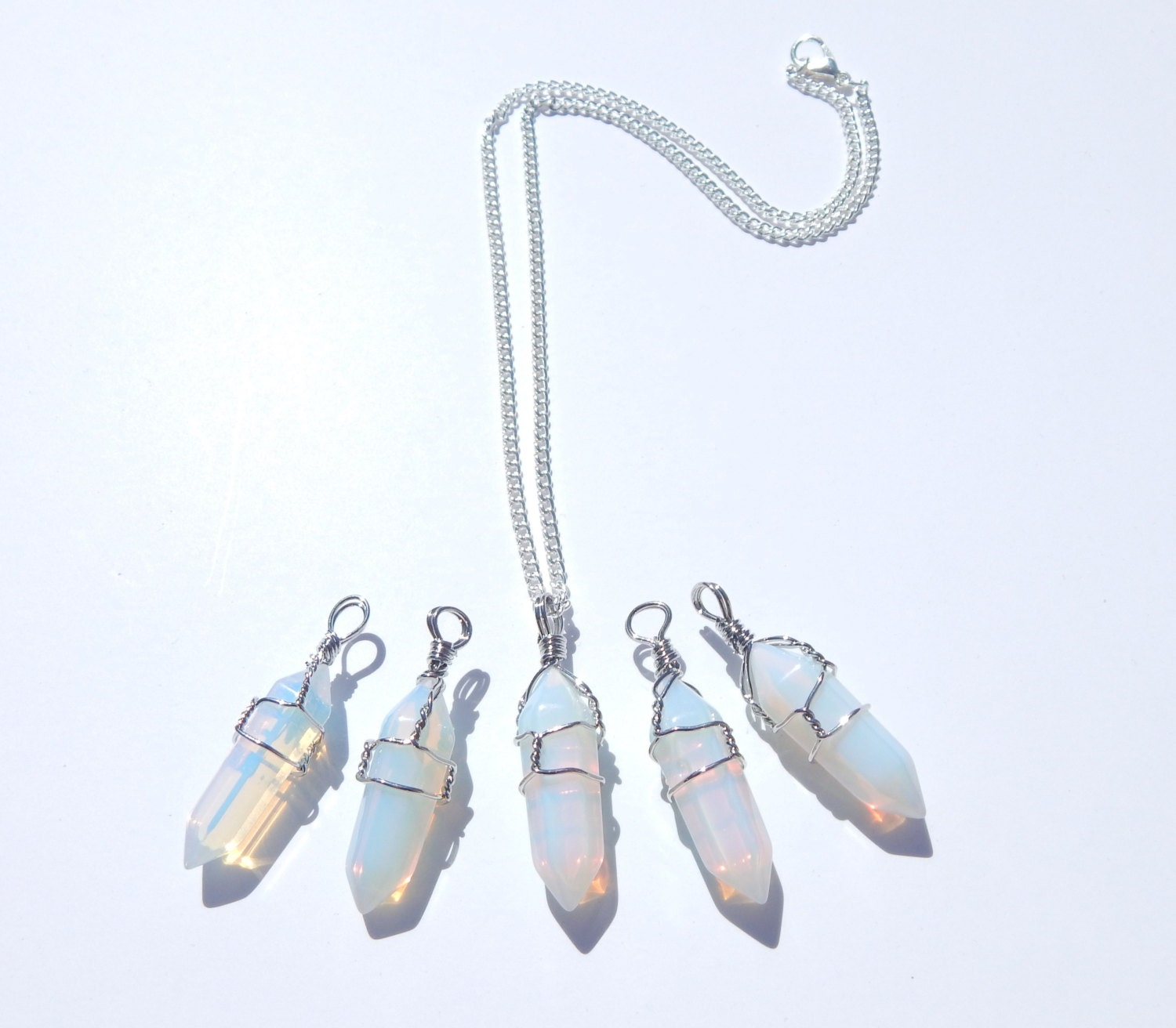 star collection pendant teardrop cornwall shop opalite silver shooting inverted