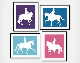 Equestrian Gift, Equestrian Decor, Equestrian Art, Girls Horseback Riding Decor