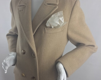 Vintage Pendleton Double-Breasted Coat/100% Pure Virgin Wool/Fully-Lined/Size 16 XL