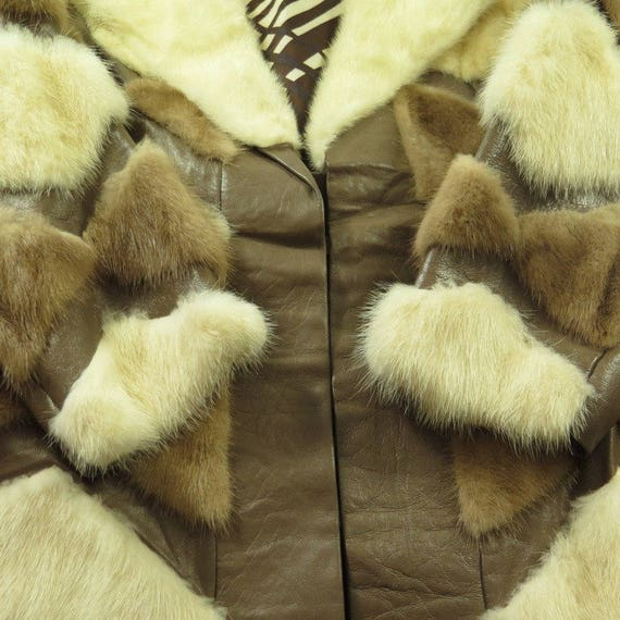 9 Overcoat Mink Womens Fur 3 Real M H49C Long Coat 70s USA Made Fur Vintage qwCg1g