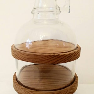 Half Gallon Glass Hug   Vintage Kitchen   Vintage Decor   Divided Glass Jug    Terrarium