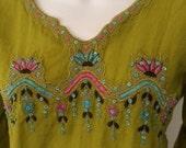 Vintage India Lime Embroi...