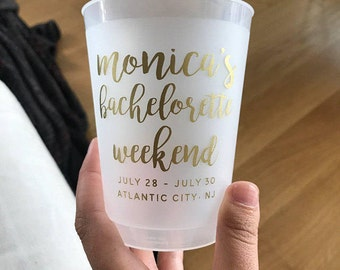 Bachelorette Cup, Bachelorette Party Cups, Party Cups, Team Bride, Bridal Shower, Bachelorette Gift, Frosted Cup, Wedding Cup, 1726
