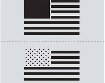 Plaid FolkArt Stencil1 US Flag Set Stencil