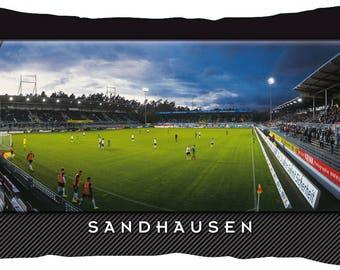 Sandhausen Stadium postcard cushion (50 cm x 30 cm)