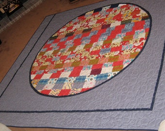 KING QUILT - Gingham and Zen