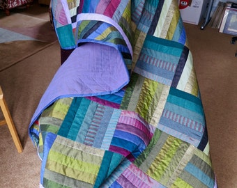 Hand made pieced quilt for wall or throw