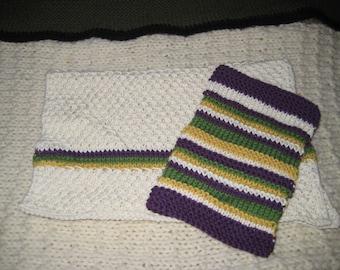 Mardi Gras Hand Cotton Hand Towel Set