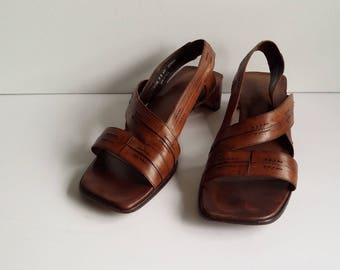 Cole Haan sandals, 10, 9, womens shoes, vintage shoes, leather shoes