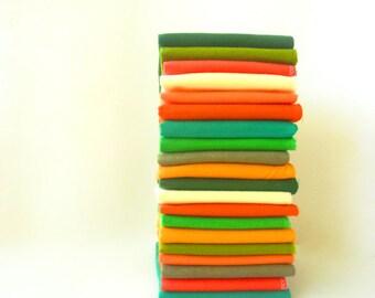20 Orange Green Cloth Napkins - Everyday Napkins - Casual Napkins - Reusable Paper Towels - Irish Decor - Fabric Napkins - 10 x 12