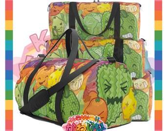 Kawaii Universe - Cute Fruits and Veggies Rainbow Designer Travel Bag / Duffel
