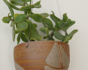 Suspension in stoneware, pottery, ceramics, plant, decoration
