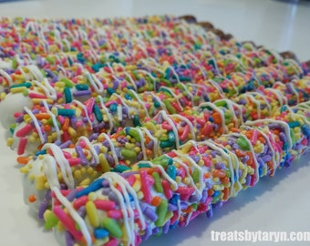 Rainbow Chocolate Covered Pretzels