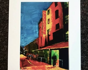 Limited edition print - Saturday Night at the Leadmill - Sheffield.  From an original painting by Bryan John