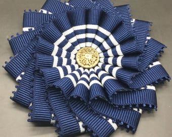 Blue and Gray  Wheel Cocarde Applique
