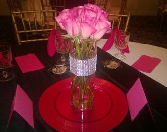 Wedding Centerpiece Vases Great Gatsby Cylinder With Black