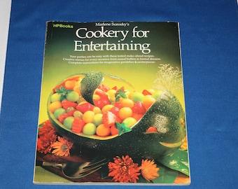 Vintage Marlene Sorosky's Cookery for Entertaining Cookbook 1987 Cook Book Paperback Lunch Recipes Dinner Recipe Party Ideas Dessert