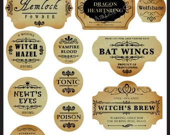 The Haunted Apothecary Frames and Labels for Personal and Commercial Use