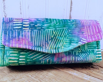 Multi-color Pastel Batik Wallet Clutch