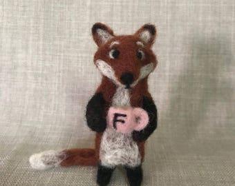 Needle Felt Fox 'Mr Fox'