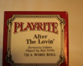 Play-rite Player Piano Roll