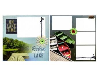 On Lake Time - Premade Scrapbook Page Set