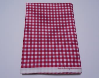 Red and White Gingham Cotton Quilting Fabric, In The Beginning Fabrics, Gingham Quilting and Sewing Fabric Yardage, Quiltsy Destash