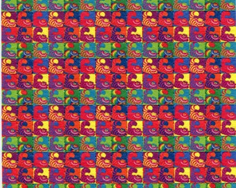 Psychedelic Blotter Art Print perforated sheet 225 hits Acid Free paper
