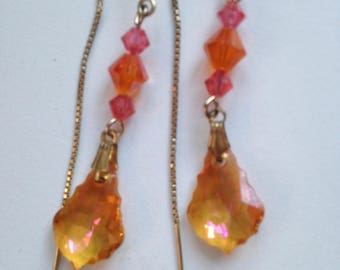 Swarovski Baroque Crystal Passion Pendant Earrings