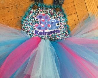 Blues Clues Tutu Jumper/ Overalls Dress