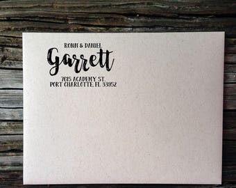 Custom Address, Return Address Label, Address Labels, Custom Return Address Labels, Garrett Brush Calligraphy Address Labels, Wedding Labels